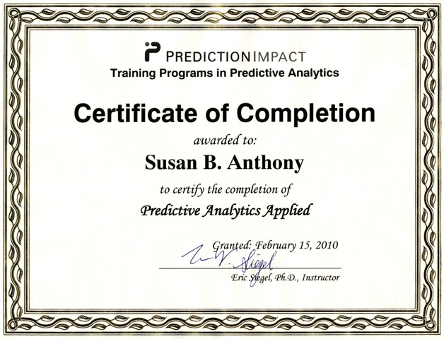 Predictive Analytics Online Training Program - Online Course