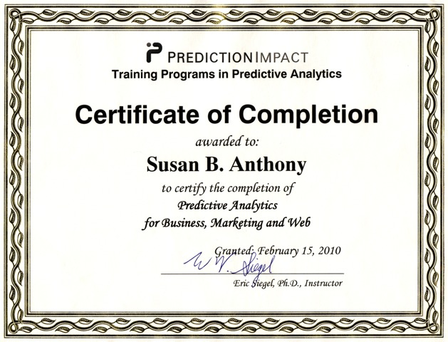 Predictive Analytics & Data Mining Training Seminar/Workshop